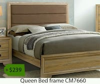 brown wooden bed frame  Fountain Valley, 92708