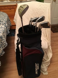 Full set of women's golf clubs