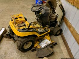Parting out a Cub Cadet ride on mower..
