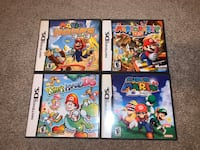 4 Mario DS games. Selling as Lot  Ajax, L1T 1V1