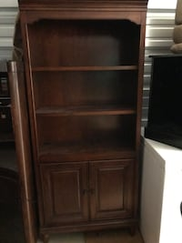Beautiful bookcase with lower storage