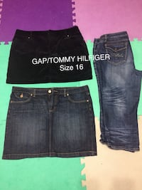 women's two denim skirts and one blue jeans Surrey, V3W