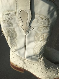 Rodeo White leather cowboy boot size 9