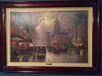 New York 5th Avenue by Thomas Kinkade. Has signature and original sketch on back. Appraised at $2800 before he passed. 24x36. Gallery Proof 1081/1200. Absecon, 08201