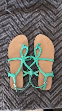 pair of brown-and-teal sandals Denver, 80221