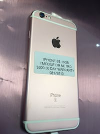 IPhone 6S 16GB T-Mobile or Metro PCS  Santa Ana, 92705