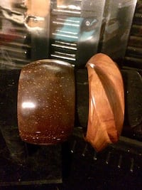 two brown wooden candle holders Hamilton, L8L 6M8