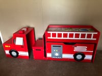 Fire truck toy box and play set. Zephyrhills, 33541