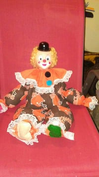 Cleveland. CLowns. DOll.  75.00 1 only made histo.