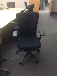 black leather office rolling armchair Toronto, M9M
