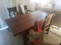 Hardwood Kitchen / Dining Room Table L36,W36, Lake Forest, 92630