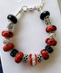 Black and red charm bracelet Baltimore, 21224