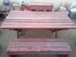 picnic table and 4 bench seats