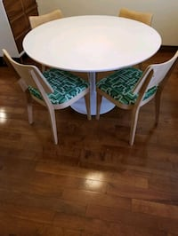 Haywood Wakefield dining chairs.