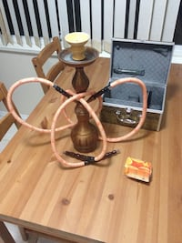 Brown and white hookah Surrey, V3Z 9R8