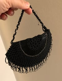 VINTAGE Black Clutch Purse
