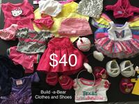 Build-a-Bear Clothes And Shoes and Accessories, Excellent Condition, see all pics Chesapeake, 23320
