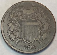 1869 Two Cent Piece Baltimore, 21206