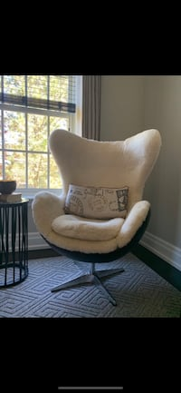 Genuine Sheep Skin Lined Egg Chair from Restoration Hardware  Toronto, M4R 1M4