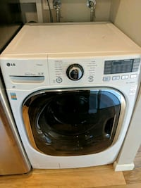 white LG front-load clothes washer Poway, 92064
