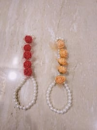 beaded red-and-white and yellow-and-white floral bracelets Jaipur, 302039