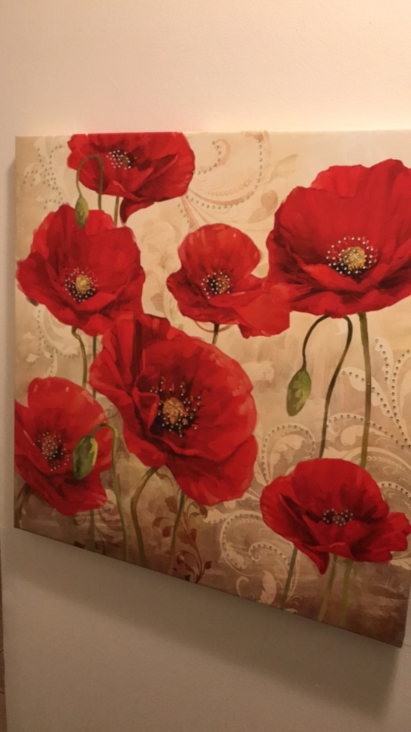 Used Red Poppy Flowers Painting For Sale In Jersey City Letgo