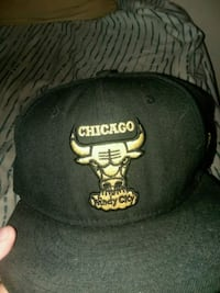 black and white Chicago Bulls fitted cap Boston, 02124