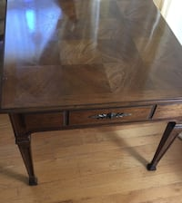 """brown wooden end table with drawer 26""""x26""""x21.5""""h El Cerrito, 94530"""