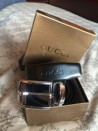 Beautiful Black Gucci Leather Belt in Packing