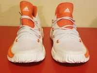 Adidas Crazy Explosive Low NBA Basketball Shoes Men's Size 12 1/2  White Orange BY3236 NORMAN