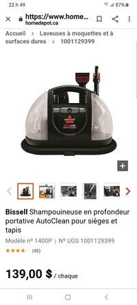 Bissell AutoClean Portable Deep Shampooer for Seats and Rugs Montréal, H1S 1N8