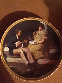 "Vintage Collectable Plate ""Pondering on the Porch"""