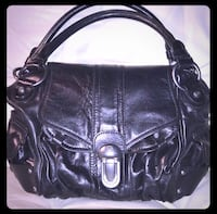 women's black leather shoulder bag Griffin, 30223