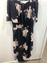 black and white floral scoop neck long sleeve dress Guildford, 2161