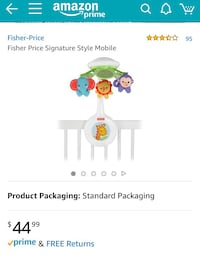 white and green Fisher-Price crib mobile Columbia, 21045