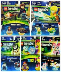 Bundle of 5, all new in boxes,  Lego Dimensions