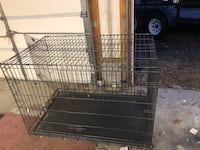 black metal folding dog crate WASHINGTON