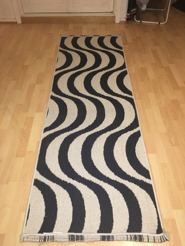 Black and white carpet from IKEA