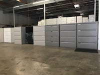 HUGE LOT OF 4 DRAWER HORIZONTAL LATERAL FILE CABINETS  *key/delivery Rancho Cucamonga