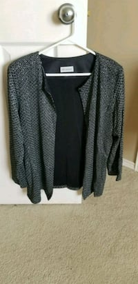 black and gray long-sleeved cardigan Red Deer, T4R 2W4
