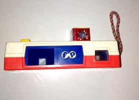 Vintage Fisher Price Pocket Toy Camera 464 With Revolving Zoo Photos