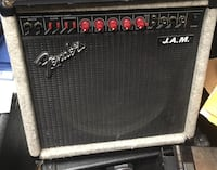 black and gray Fender J.A.M. guitar amplifier