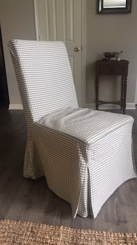 IKEA chair with grey/white gingham cover Centreville, 20120