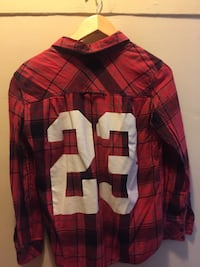 Red and black plaid button-up size:S Toronto