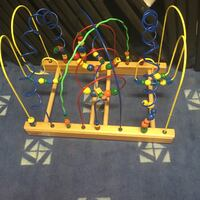 Child's bead wooden toy