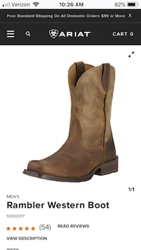 unpaired brown suede chunky heeled boot Durango, 81301