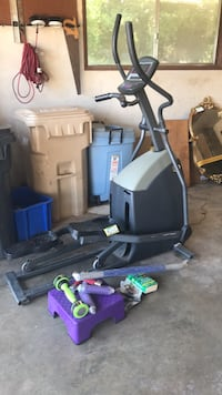eliptical , dumbbells and the firm  work out  starter kit Albany, 97322