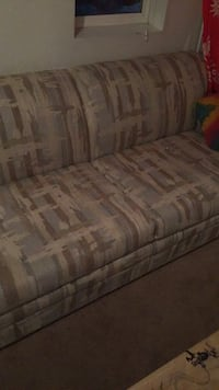 Couch with fold out bed inside it free if you remove it on your own bed inside it in good condition no rip or tears great couch just need space need it gone  Bend, 97701
