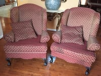 Two maroon wing chairs BALTIMORE