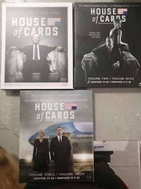 House Of Cards Seasons 1-3 Blu Ray  Mississauga, L4X 2M5